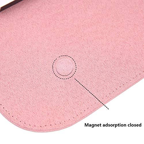 Gemakkelijk te dragen en grote capaciteitMatte magnetische gesp PU Laptop Sleeve Bag Voor Xiaomi Macbook Pro 13 Case Air 11 12 Retina 2018 Nieuwe 15 Touch Bar Vrouwen Mannen Cover For Xiaomi pro 15.6 roze