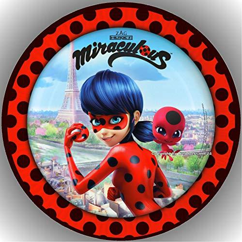 Fondant Tortenaufleger Tortenbild Geburtstag Miraculous Ladybug T8