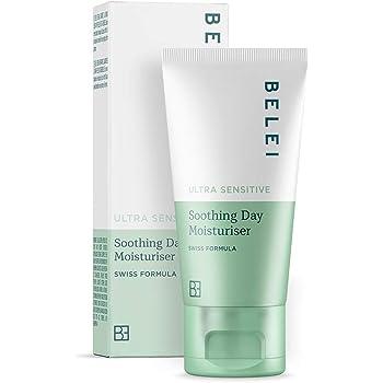 Marchio Amazon - Belei, Crema idratante da giorno, lenitiva, per pelle ultra sensibile, 50 ml