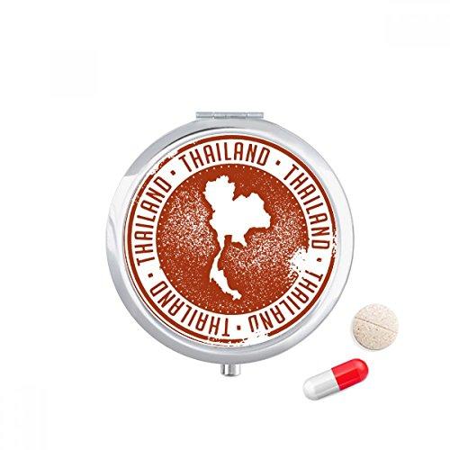 DIYthinker Thaise cultuur Ik hou van Thailand kaart Travel Pocket Pill case Medicine Drug Storage Box Dispenser Spiegel Gift