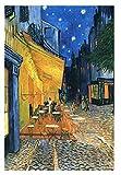 YTHK Terraza del café en la Place du Forum Aros en la Noche Rompecabezas de Madera de 1000 Piezas para Juguetes para Adultos Regalo decoración del hogar
