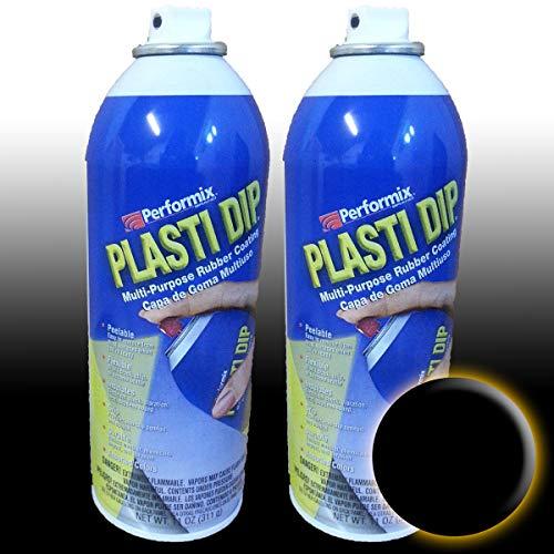 Preisvergleich Produktbild PlastiDip,  Kautschukfarbe,  400 ml,  Spray,  2 Stück,  schwarz