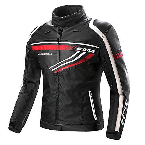 RTVZ motorjassen voor mannen waterdichte motorjas bescherming apparatuur comfortabele reflecterende ademende mesh PU jassen