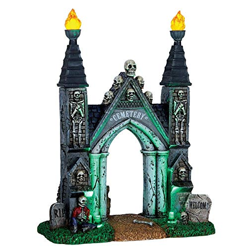 Lemax Spooky Town Cemetery Gate-Battery Operated (4.5v)