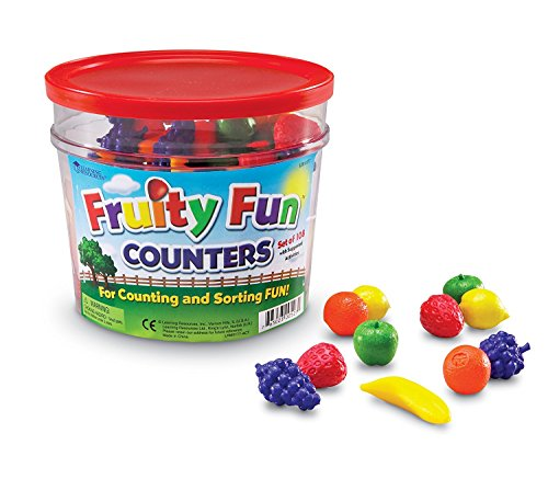 Learning Resources- Figuras de Frutas Fruity Fun, Color (LER0177)