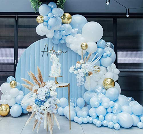 Beaumode Baby Blue Balloon Garland Kit for Baby Shower Balloon Arch Wedding Bridal Shower Birthday Oh Baby Party Backdrop Decoration