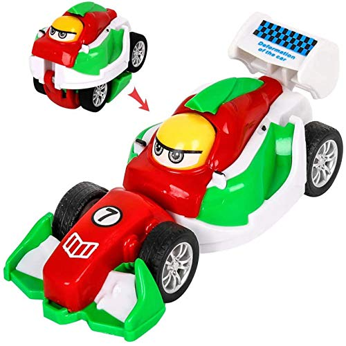 M SANMERSEN Mini Pull Back Cars, 4 Pack Monster Toys Cars Push and Go Friction Powered Vehicles Portable Deformation Car Toys Best Party Favors Gifts for Toddler Boys Girls