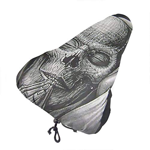 Enoqunt Bike Seat Cover Angels Vs Demon Skull Cover Bike Universal Gel Seat Cushion Cover Protective Bicycle Saddle Cover