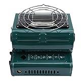 CHENQIAN Calentadores de gas al aire libre Cocina Parrilla Portátil Senderismo 2312g Barbacoa Estufas de Camping Verde Doble...
