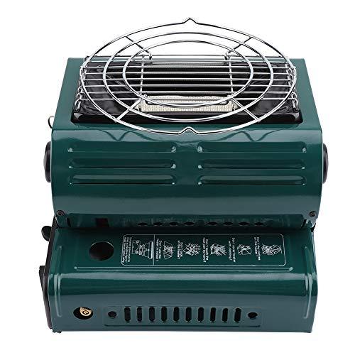CHENQIAN Calentadores de gas al aire libre Cocina Parrilla Portátil Senderismo 2312g Barbacoa Estufas de Camping Verde Doble Gas Dual