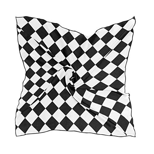 Chess Board Checkers Quadratischer Schal Soft Breathable Neck Scarf Neckerchief Digital Printed Headscarf Headband