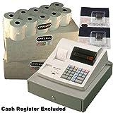 eposbits® marca 40rollos + 2x de tinta para Sharp xe-a110xea-110xea110caja registradora