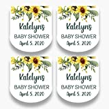 Customized Stickers Set of 30 Personalized Floral Mini Favor Labels - Customized Sunflower Stickers for Mini Bottles - Labels ONLY (HSL111)