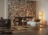 Fotomural Stone Wall (muro de piedra) 3,68 x 2,54 m. Formato grande XXL! - Fotomurales Komar