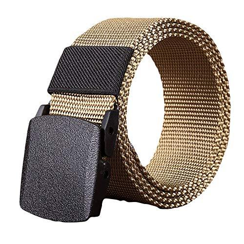 Cinturón Hombre Moda Hombre Mujer Nylon Automático Hebilla Cinturón Fans Militares Tactical Canvas Belt Especial Estilo Ca. 3 4Mm Cinturón Stark De Cuero Jeans Cinturón