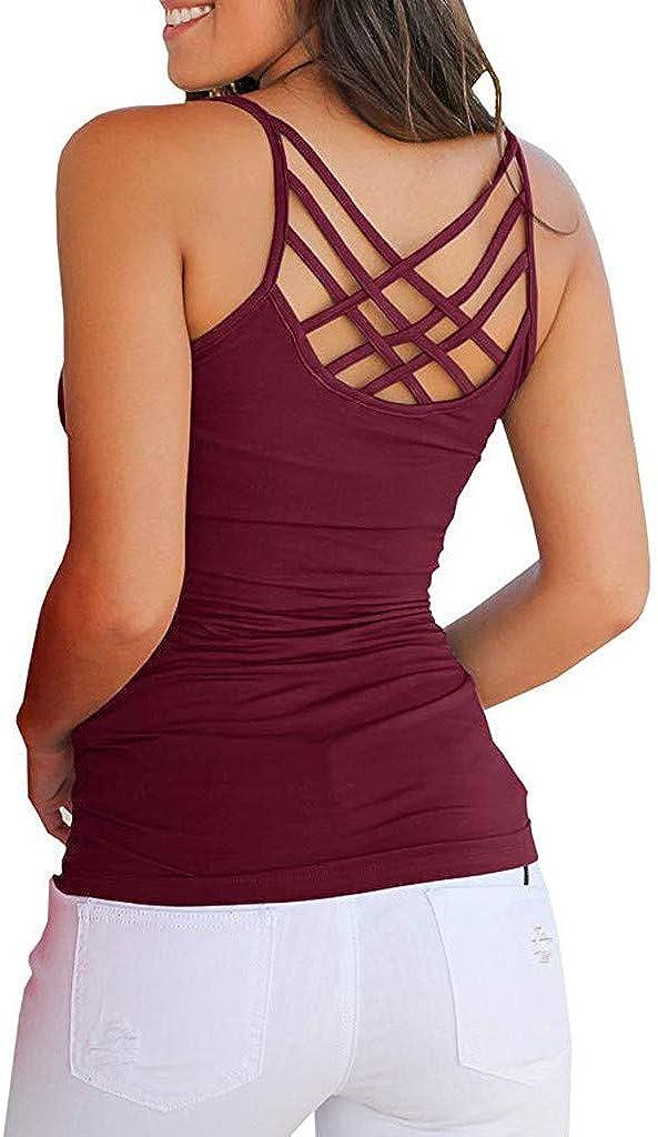 Women Summer Sleeveless Criss Cross Tank Top Blouse: Clothing, Shoes & Jewelry