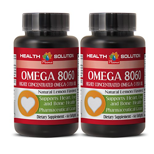 Immune Support for Adults - Omega 8060 (Highly Concentrated Fish Oil) - Omega 3 epa dha - 2 Bottle 120 Softgels