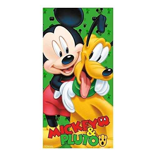 Kids Euroswan Disney - WD51007 - ToallaMickeyPluto, tamaño: 70x140cm