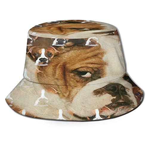 Peludo Bulldog inglés Sombrero de Cubo Unisex Gorra de...
