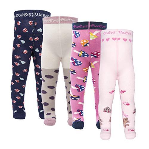 Ewers 4er Pack ÜBERRASCHUNGSPAKET RESTPOSTEN SONDERPOSTEN - individuell gefüllt - Babystrumpfhose für Mädchen, MADE IN EUROPE, Mädchenstrumpfhose Strumpfhose Kinderstrumpfhose