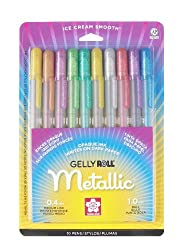 gelly roll gel pens metallic