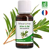 Huile essentielle d'ARBRE À THÉ (Tea Tree) BIO - 30 ml - 100% Pure et Naturelle, HEBBD, HECT - distillée en France certifiée Biologique
