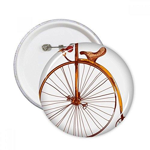 Altmodische Fahrrad High Wheeler Großbritannien Gemälde rund Pins Badge Button Kleidung Dekoration Geschenk 5X xxl