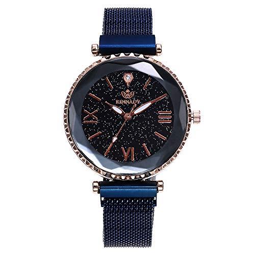 Reloj de Mujer Nueva Malla cinturón Dama Moda Milan iman Escala Romano...
