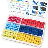 TICONN 240PCS T-Tap Wire Connectors, Self-Stripping Quick Splice Electrical Wire Terminals, Insulated Male Quick Disconnect Spade Terminals Assortment Kit with Storage Case (240)