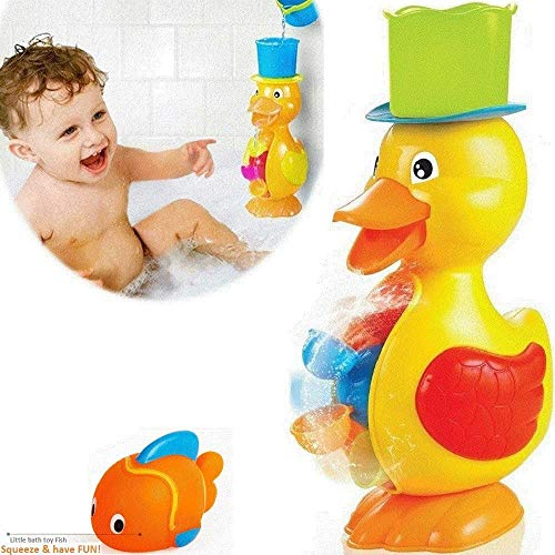FUNERICA Large Yellow Duck Bath Toy for Toddler...