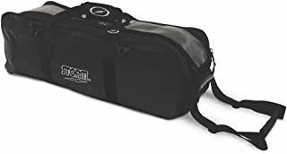 MICHELIN Storm Bowling Products Tournament 3 Ball Tote Roller Bowling Bag- No Pockets- Black