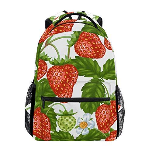 Unisex Multifunction Rucksack,Kids/Adult Laptop Backpack,College Backbag,Men/Women Travel Knapsack,Girl Casual Daypack,Boy School Book Bag,Strawberry