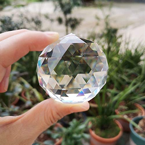 Decoración hogareña 2/3 / 4cm Bola facetada de Cristal pisapapeles de Cristal Fengshui Manualidades manija de Puerta hogar Esfera Decorativa Regalos Globo Accesorios de fotografía