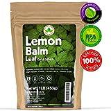 Lemon Balm Tea (Bulk Herbal Tea): Bulk Lemon Balm Leaf (Melissa Officinalis Caffeine Free) - Herbal Balm, Bulk Balm Leaf (Cut and Sifted), 1lb (16Oz) U.S. Wellness Bulk Tea
