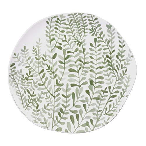Mix & Match Assiette avec motif vigne Vert