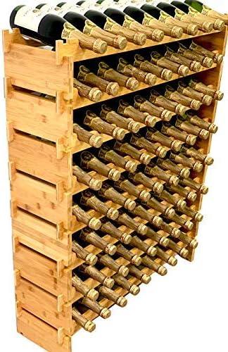 72 Bottle Reservation Stackable Modular Wine Rack Solid NEW before selling ☆ Ba Storage