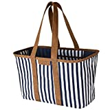 CleverMade 30L SnapBasket LUXE - Reusable Collapsible Durable Grocery Shopping Bag - Heavy Duty Large...