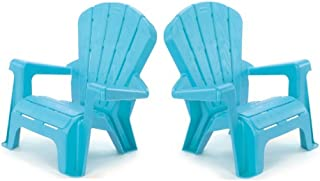 Kids or Toddlers Furniture,Use For Indoor,Outdoor, Inside Home,The Garden Lawn,Patio,Beach,Bedroom Versatile and Comfortable Pack of 2 (Light Blue)