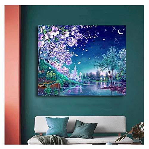 BigMMDream Pinturas por números Escenario Ideal para una Pareja Enamorada Pintura al óleo Colores por número Pintura Decorativa de Hotel Familiar Digital (sin Marco)