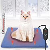 petnf Upgraded Pet Heating Pad for Dogs Cats with Timer,Safety Cat Dog Heating Pad,Waterproof Heated Cat Dog Bed Mat