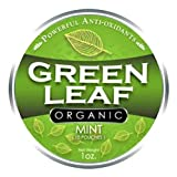 Green Leaf Organic - Mint Chew Pouches (with whitening) - 20 Count (1 can)