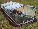 serra da terra orto giardino per copertura semi piante ortaggi e fiori 272x92h70 tre porte con doppia zip telo plastificato anti pioggia in pvc proteggi vasi