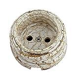 Enchufe eléctrico de porcelana retro interruptor zócalo de cerámica