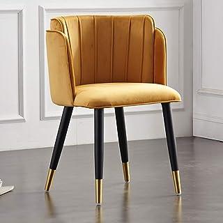 KOOU Sillas de Comedor de Cocina Moderna, pies de Madera Maciza, sillas de Mesa de Comedor de Tela de Franela para el hogar, para Dormitorio/vestidor/Silla de Ocio de recepción