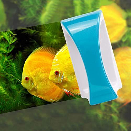 Magnetico Spazzola Acquario, spazzola per la pulizia del vetro del serbatoio dei pesci utilizzata per pulire lo sporco e le alghe, Strumento di pulizia su due lati per galleggiabilità