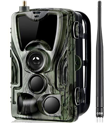 KTYX 2G Cellular Trail Game Camara Caza - 20MP 1080P Full HD Hunting Scouting Cámaras Envían Imágenes Al Teléfono Celular - con Visión Nocturna A Prueba de Agua para Monitoreo de Vida Silvestre