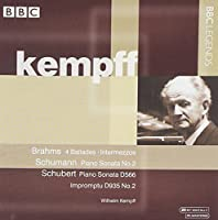 Wilhelm Kempff Plays by SCHUBERT / BRAHMS / SCHUMANN (2003-05-20)