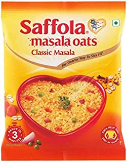 Saffola Masala Oats - Classic Masala- 39 grams - (1.37 oz) Vegetarian oatmeal India - pack of 6