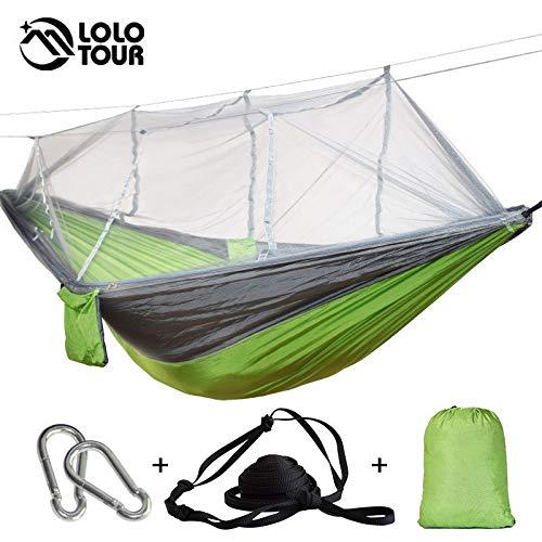 Bureze Dropshipping 1–2 Personne extérieure Moustiquaire Hamac Parachute Camping à Suspendre Couchage lit Swing Drop Shipping Grande Chaussette