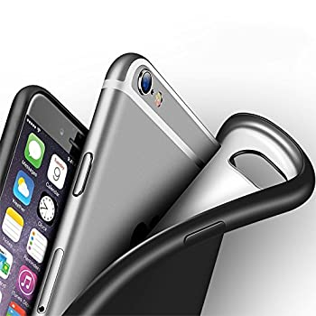 iPhone 6s Case Eabuy Ultra Thin Lightweight Soft Gel TPU Matte Finish Shockproof Anti-Slip Protective Case Cover for iPhone 6 / 6s Black